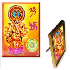 Lord Ganesha With Ganesh Yantra Photo